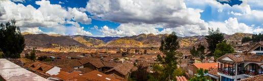 Opinión del panorama de Cuzco (Cusco), Perú Imagen de archivo