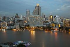 Opinión del panorama de la ciudad de Bangkok Imagenes de archivo