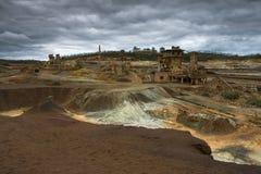 Opinión del panorama de la mina Fotografía de archivo