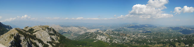 Opinión del panorama de la montaña foto de archivo libre de regalías