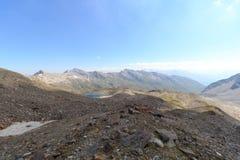 Opinión del panorama de la montaña, montañas de Hohe Tauern, Austria Fotos de archivo libres de regalías