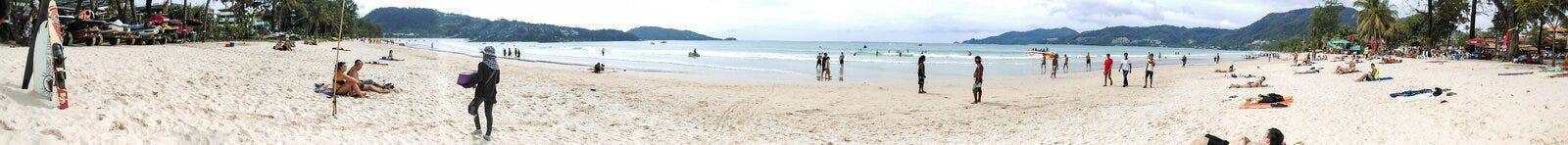 Opinión del panorama de la playa del patong Foto de archivo libre de regalías