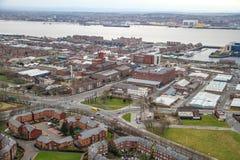 Opinión del panorama de Liverpool Fotografía de archivo