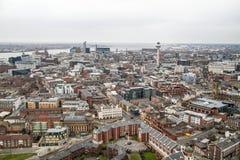 Opinión del panorama de Liverpool Imagen de archivo