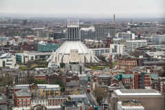 Opinión del panorama de Liverpool Fotografía de archivo libre de regalías