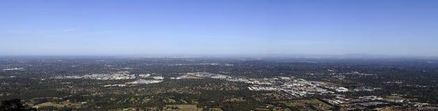 Opinión del panorama de Melbourne Foto de archivo