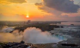 Opinión del panorama de Niagara Falls imágenes de archivo libres de regalías