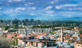 Opinión del panorama de Plovdiv Imágenes de archivo libres de regalías