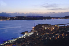 Opinión del panorama de Pozzuoli Fotos de archivo libres de regalías