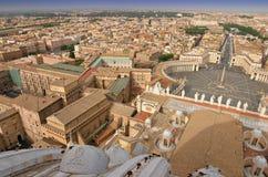 Opinión del panorama de Roma Fotografía de archivo libre de regalías
