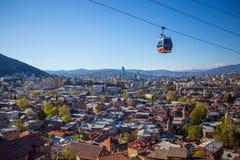 Opinión del panorama de Tbilisi Imagen de archivo