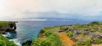 Opinión del panorama del cabo Manzamo Imagenes de archivo