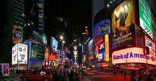Opinión del panorama del Times Square Foto de archivo libre de regalías