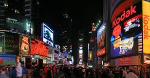 Opinión del panorama del Times Square Imagen de archivo