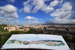 Opinión del panorama desde arriba de la ciudad de Florencia Imagen de archivo libre de regalías