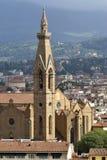 Opinión del panorama desde arriba de la ciudad de Florencia Fotos de archivo libres de regalías