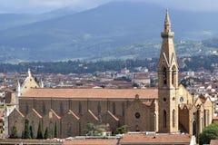 Opinión del panorama desde arriba de la ciudad de Florencia Imagen de archivo