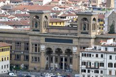 Opinión del panorama desde arriba de la ciudad de Florencia Fotos de archivo