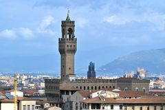 Opinión del panorama desde arriba de la ciudad de Florencia Foto de archivo libre de regalías