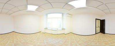 opinión del panorama 360 en el interior vacío moderno del apartamento, panorama inconsútil de los grados Fotos de archivo
