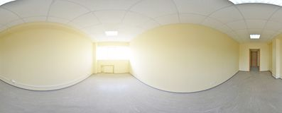 opinión del panorama 360 en el interior vacío moderno del apartamento, panorama inconsútil de los grados Imagenes de archivo