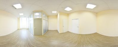 opinión del panorama 360 en el interior vacío moderno del apartamento, SE de los grados Imagen de archivo