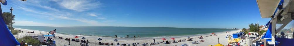 Opinión del panorama en la playa Foto de archivo
