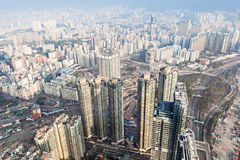Opinión del panorama a Hong Kong Fotografía de archivo libre de regalías