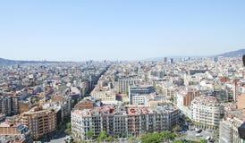 Opinión del panorama sobre la ciudad de Barcelona Foto de archivo