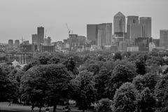 Opinión del parque de Greenwich Imagen de archivo libre de regalías