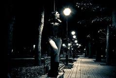 Opinión del parque de la noche Fotos de archivo