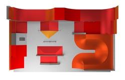 Opinión del parque del patín desde arriba representación 3d Imagen de archivo