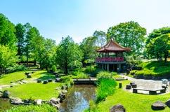 Opinión del parque en el parque zoológico de Kumamoto Fotos de archivo