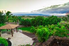 Opinión del patio trasero en Hawaii Foto de archivo