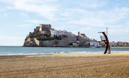 Opinión del Peniscola, Valencia del panorama Foto de archivo libre de regalías