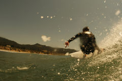 opinión del Persona que practica surf-ojo Imagen de archivo libre de regalías