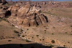 Opinión del Petra de Jordania Fotos de archivo libres de regalías