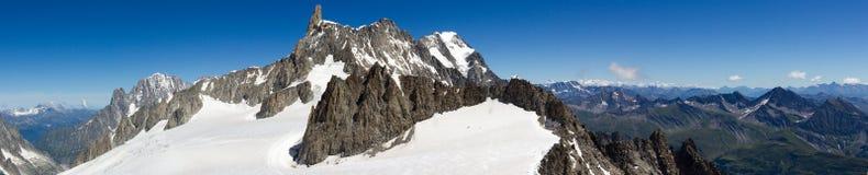 Opinión del poit de Hellbronner - Mont Blanc fotos de archivo libres de regalías