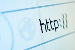 Opinión del primer de la muestra del HTTP en la pantalla LCD imágenes de archivo libres de regalías