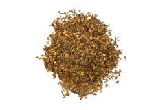 Opinión del primer de la pila del té de Rooibos de pilas aisladas Foto de archivo