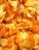 Opinión del primer de las patatas fritas imagen de archivo libre de regalías