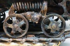 Opinión del primer de las ruedas del tractor Fotos de archivo