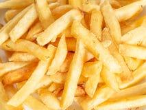 Opinión del primer de patatas fritas Fondo del alimento imagenes de archivo