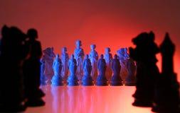 Opinión del primer del ajedrez. Imagen de archivo libre de regalías