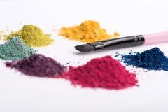 Opinión del primer del cepillo profesional del maquillaje Fotografía de archivo libre de regalías