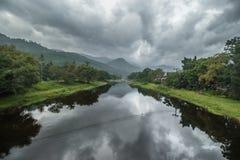 Opinión del pueblo de Khiriwong Fotos de archivo