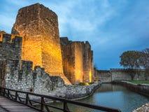 Opinión del puente de la fortaleza de Smederevo Fotos de archivo