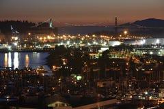 Opinión del puerto con el bridgw imagen de archivo