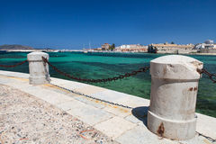 Opinión del puerto de Favignana, Italia Imágenes de archivo libres de regalías