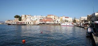 Opinión del puerto de Hania Imágenes de archivo libres de regalías